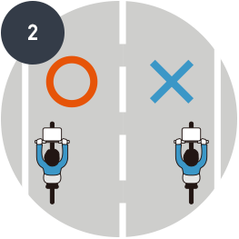 Keep left on the roads<br>(riding on the right side of the roads is prohibited)