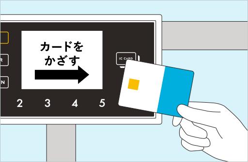 再度ICカードをかざす